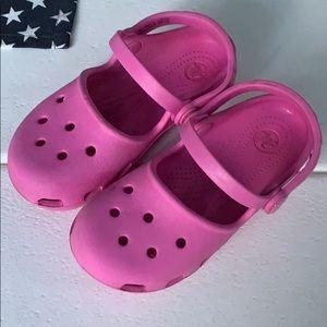 Pink crocks